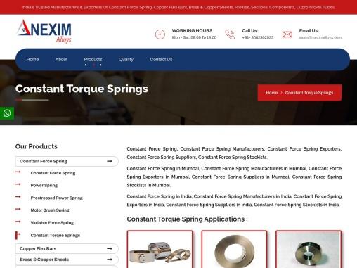 Constant Torque Springs | Nexim Alloys