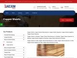 Copper Sheets Manufacturers| Nexim Alloys