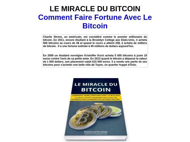 le miracle du bitcoin