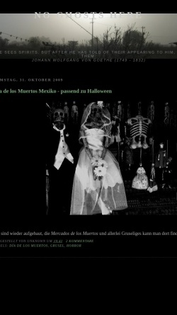Vorschau der mobilen Webseite noghostshere.blogspot.com, No Ghosts Here