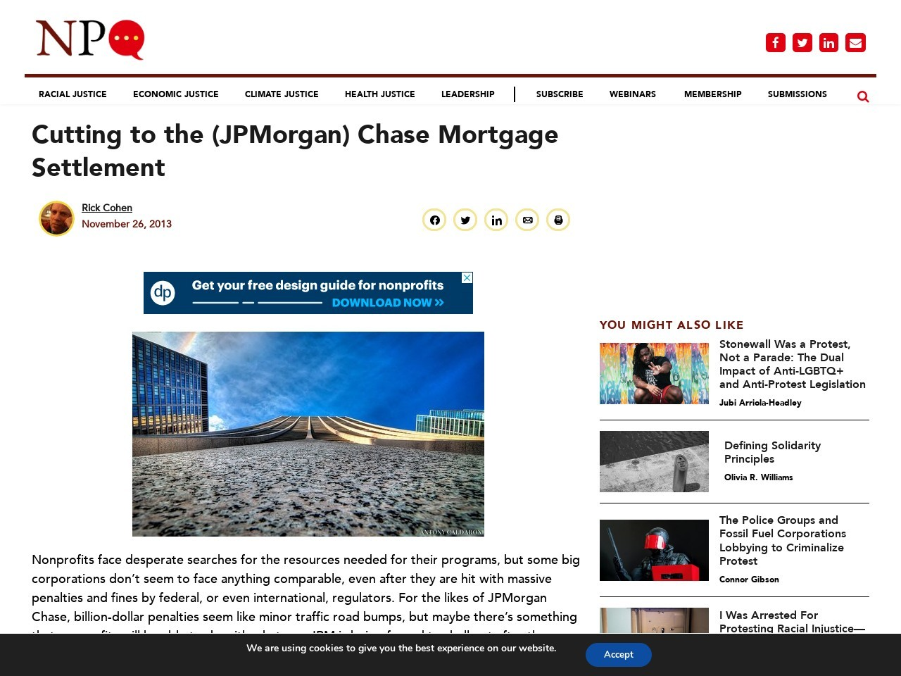 Cutting to the (JPMorgan) Chase Mortgage Settlement …