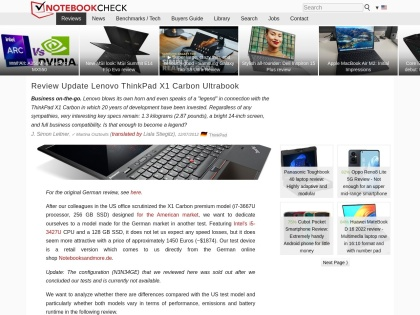 http://notebookcheck.net/Review-Update-Lenovo-ThinkPad-X1-Carbon-Ultrabook.85315.0.html