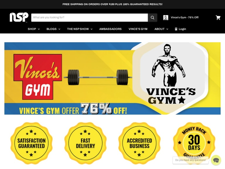 NSP Nutrition screenshot