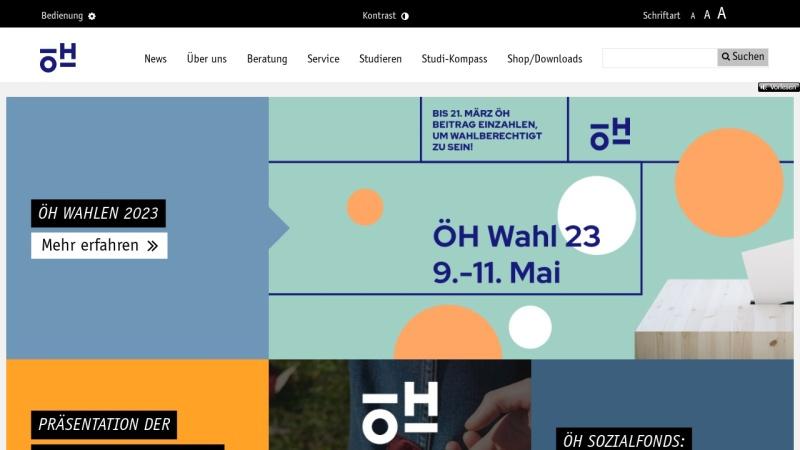 oeh.ac.at Vorschau, Österreichische HochschülerInnenschaft