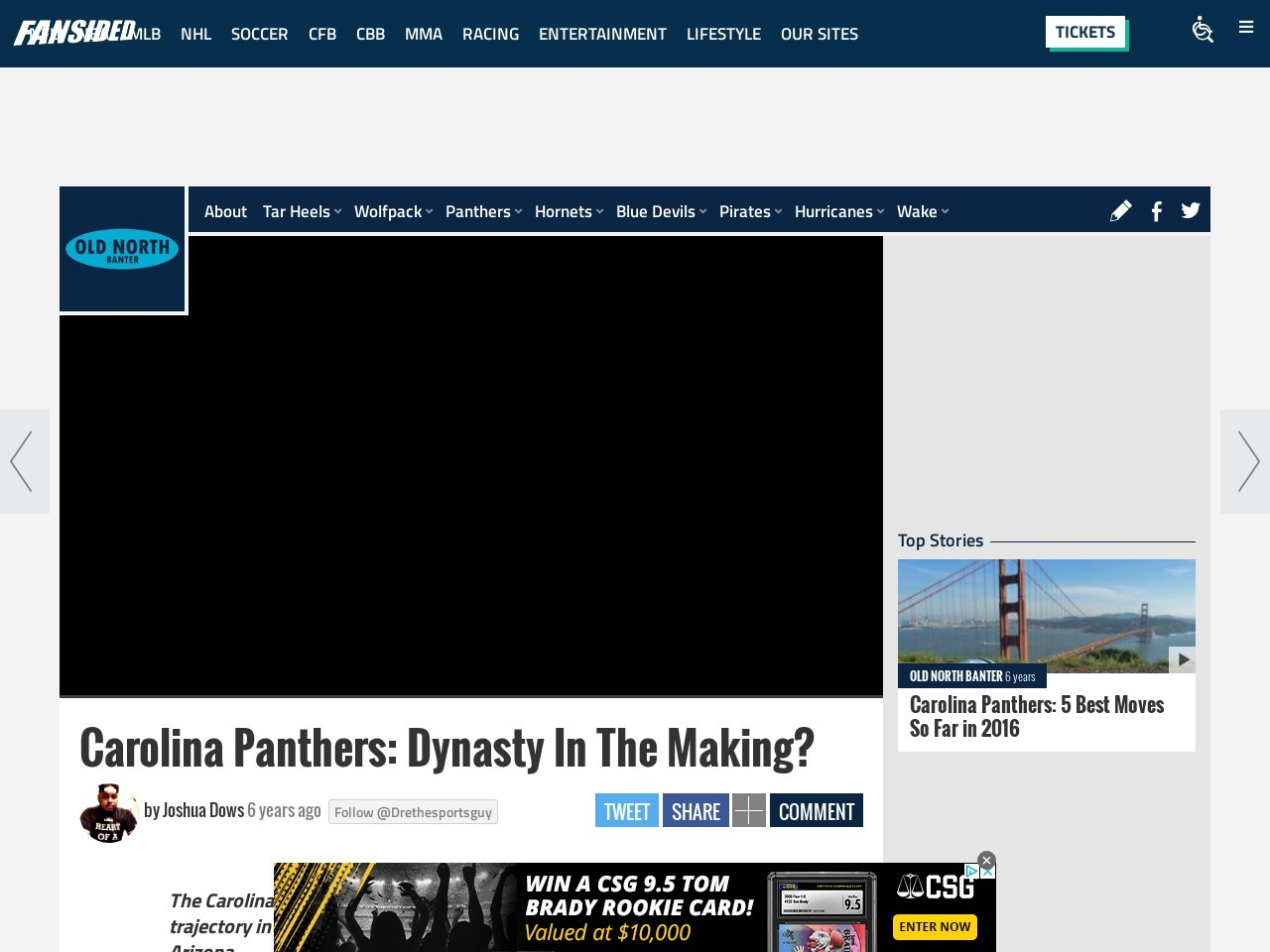 Carolina Panthers: Dynasty In The Making?