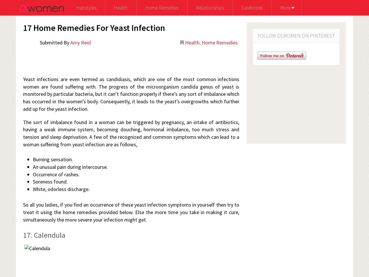 17 Home Remedies For Yeast Infection – OLWomen.com