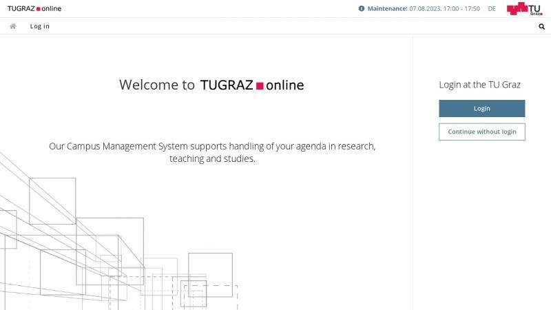 online.tu-graz.ac.at Vorschau, TUG online
