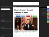 Madam Secretary Season 3 Streaming on Netflix