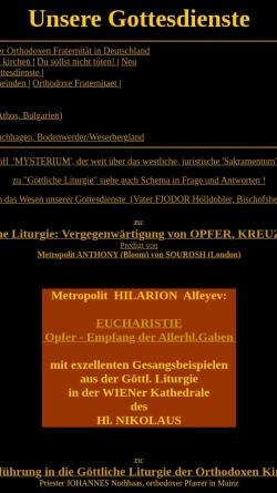 Vorschau der mobilen Webseite orthodoxfrat.de, Chrysostomos-Liturgie: Eine Einführung