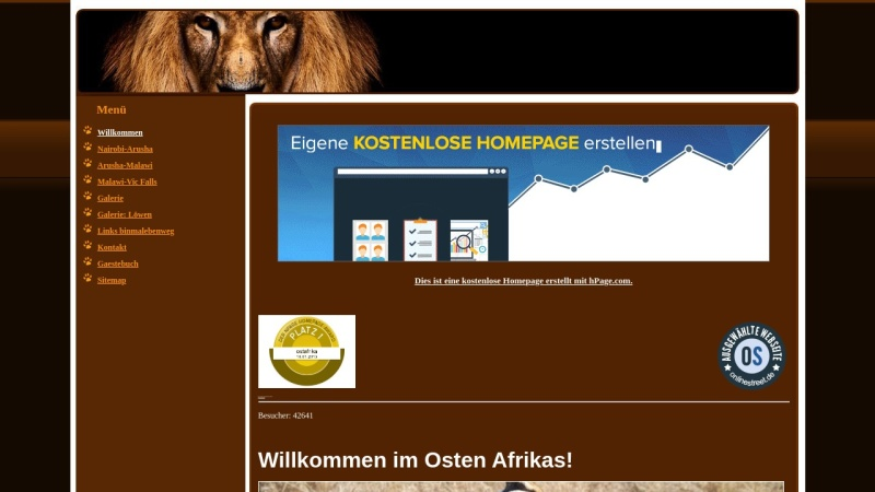 ostafrika.npage.de Vorschau, 6.000 Kilometer durch Ostafrika [Peter Belina]