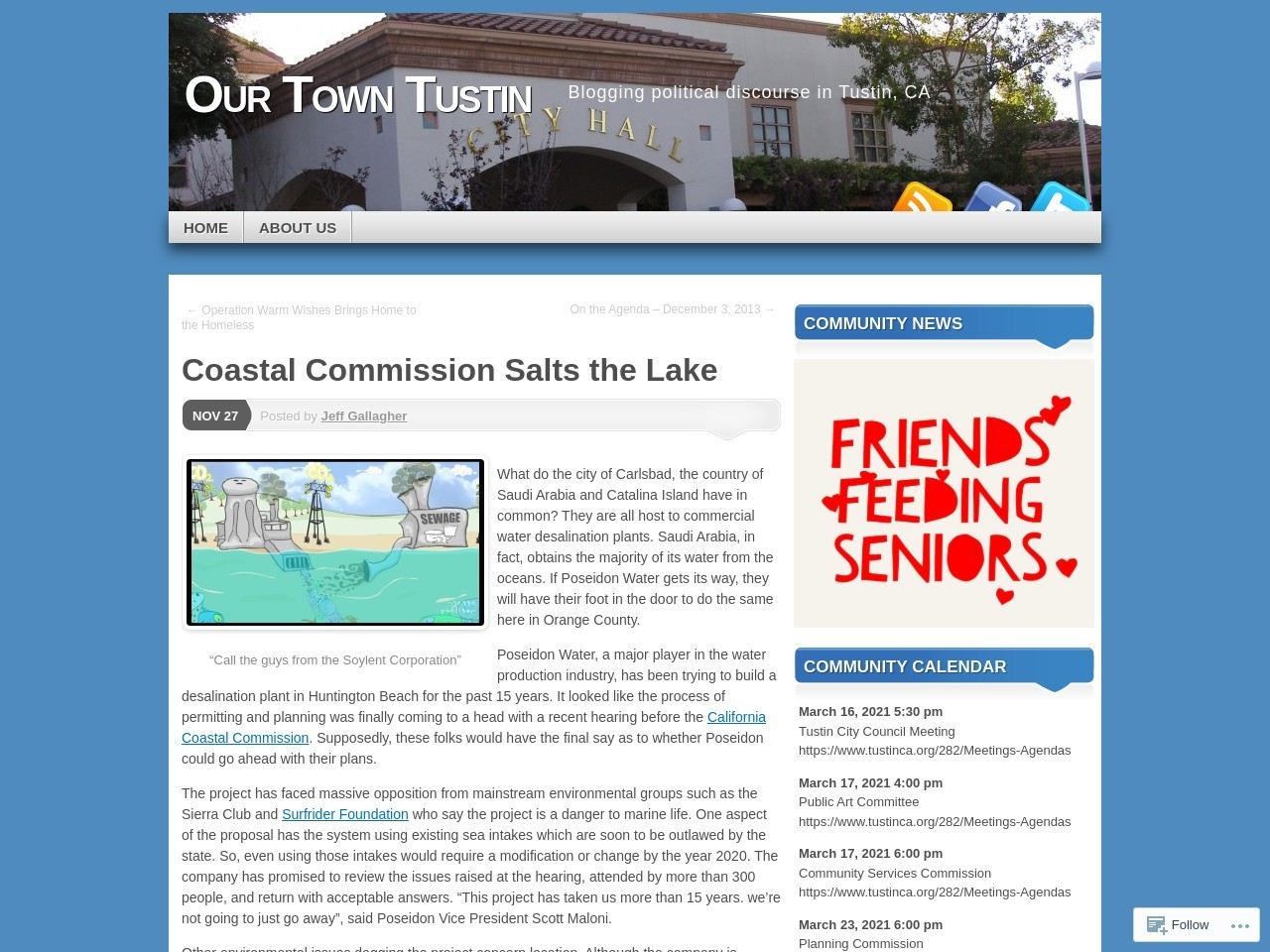 Coastal Commission Salts the Lake | Our Town Tustin