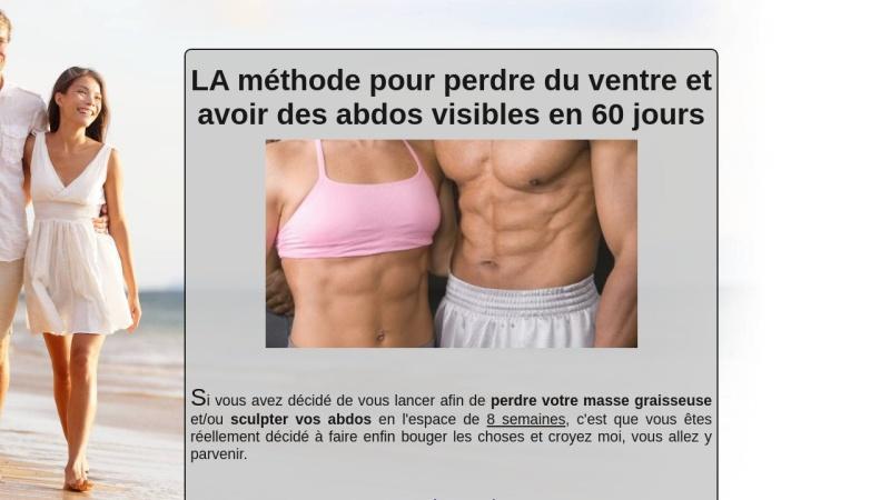 perdre du ventre & avoir des abdos visibles en 60j