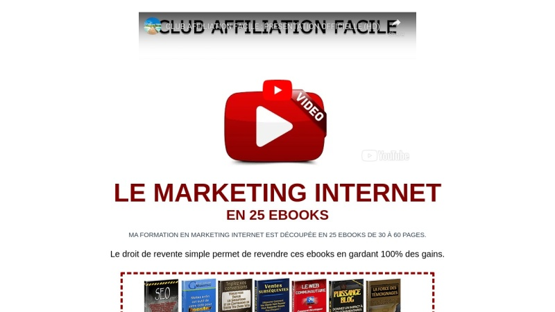 le marketing internet en 25 ebooks + drs