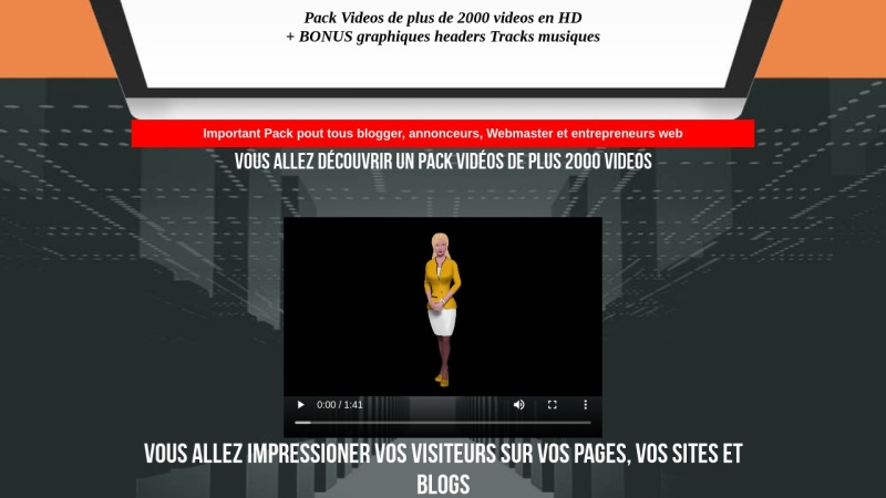 pack videos usages personnels