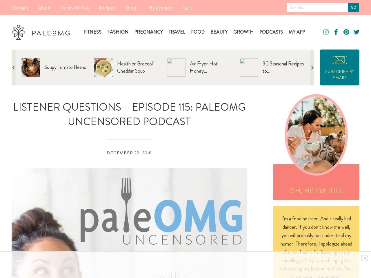 Listener Questions – Episode 115: PaleOMG Uncensored Podcast