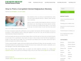 How to Find a Competent Dental Malpractice Attorney