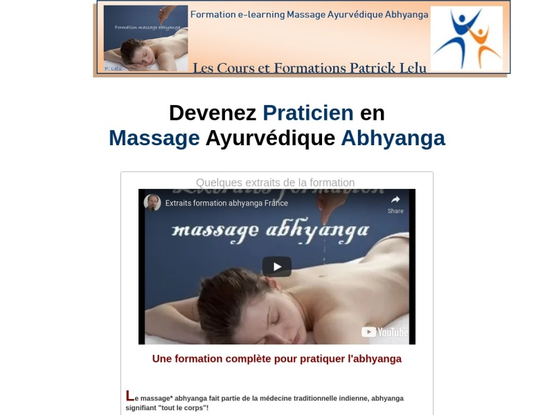 formation massage abhyanga
