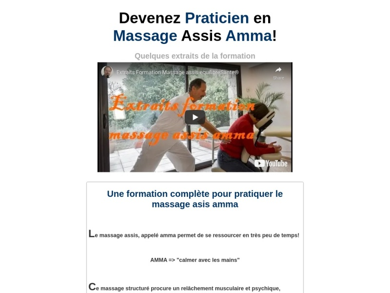 formation massage assis amma