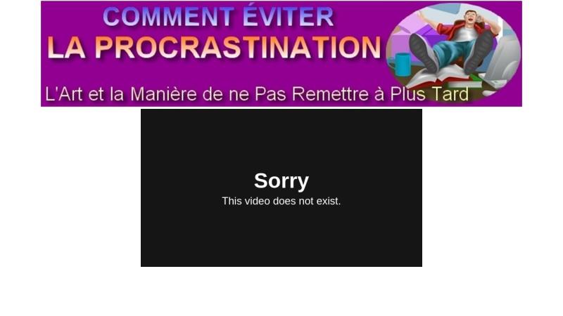 cours  en finir avec la procrastination