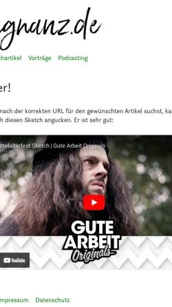 Vorschau der mobilen Webseite praegnanz.de, praegnanz.de: Dinge, die man einfach nicht mehr macht …
