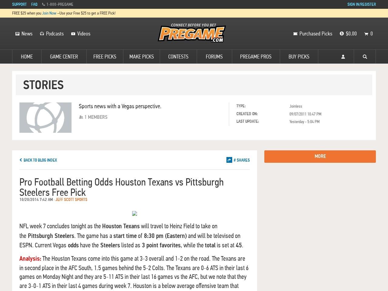 Pro Football Betting Odds Houston Texans vs Pittsburgh …