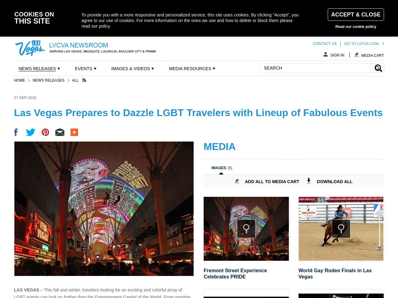 Las Vegas Prepares to Dazzle LGBT Travelers with Lineup of Fabulous Events