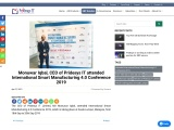 Monuwar Iqbal, CEO of Pridesys IT attended International Smart Manufacturing 4.0 Conference 2019