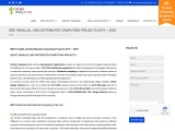 2022 IEEE Parallel and Distributed Computing Projects Chennai