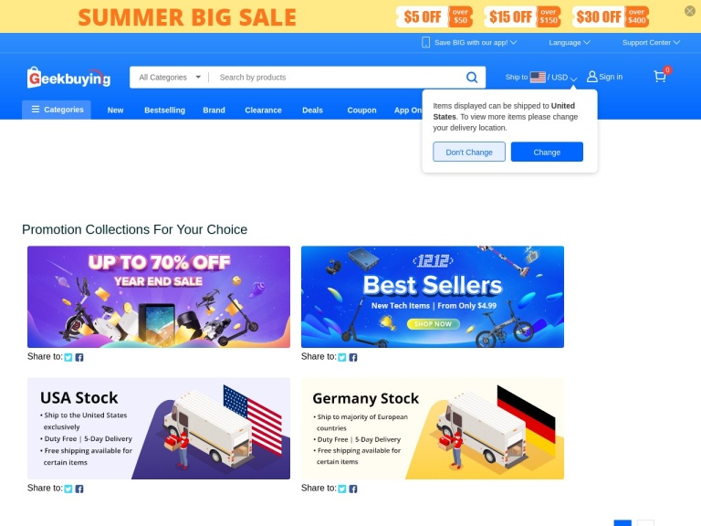 GeekBuying.com screenshot