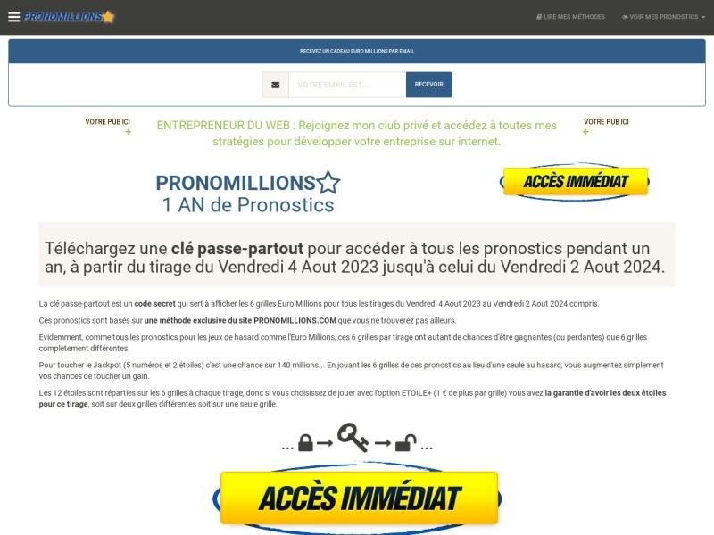 pronomillions : 1 an de pronostics euro millions