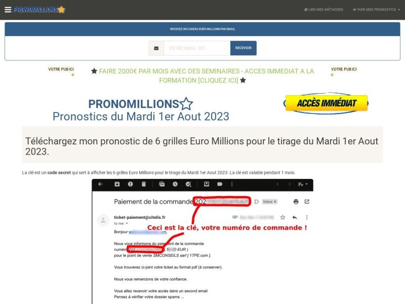 pronomillions : 6 grilles prono euro millions