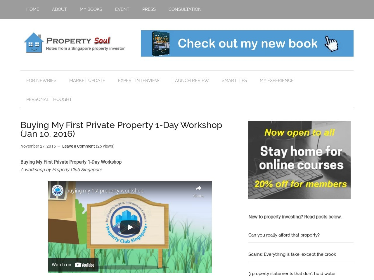 Buying My First Private Property 1-Day Workshop (Jan 10 …