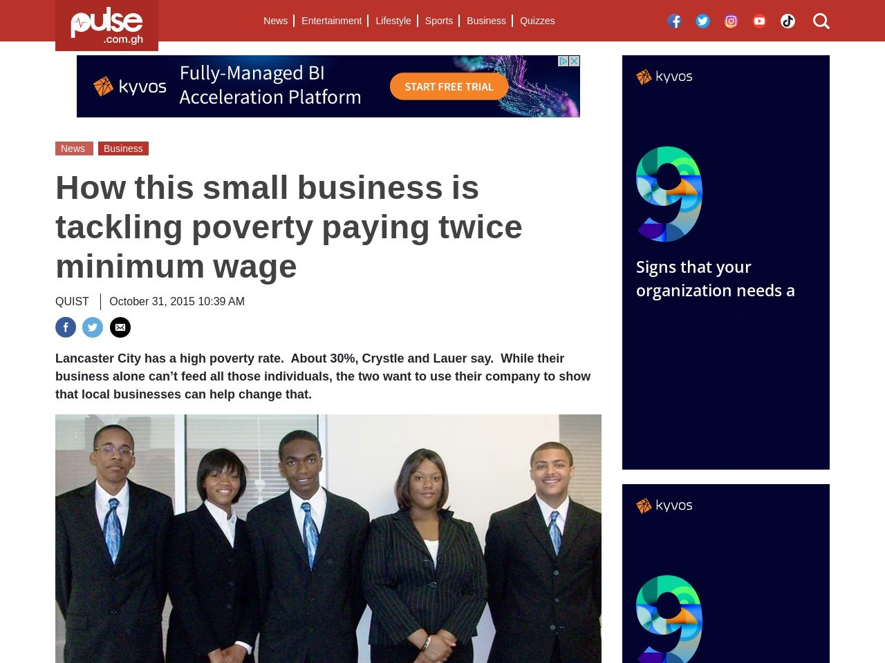Business Success: How this small business is tackling poverty paying twice …