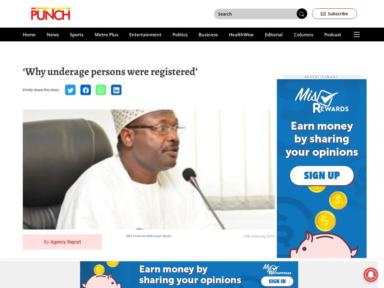 'Why underage persons were registered'