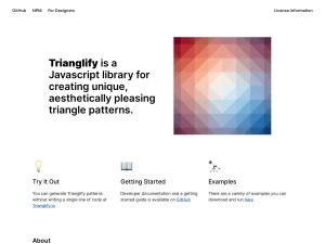 Trianglify by @qrohlfのスクリーンショット