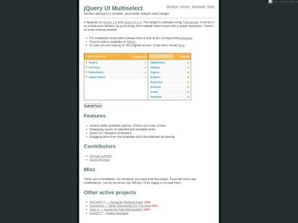 jQuery UI Multiselect