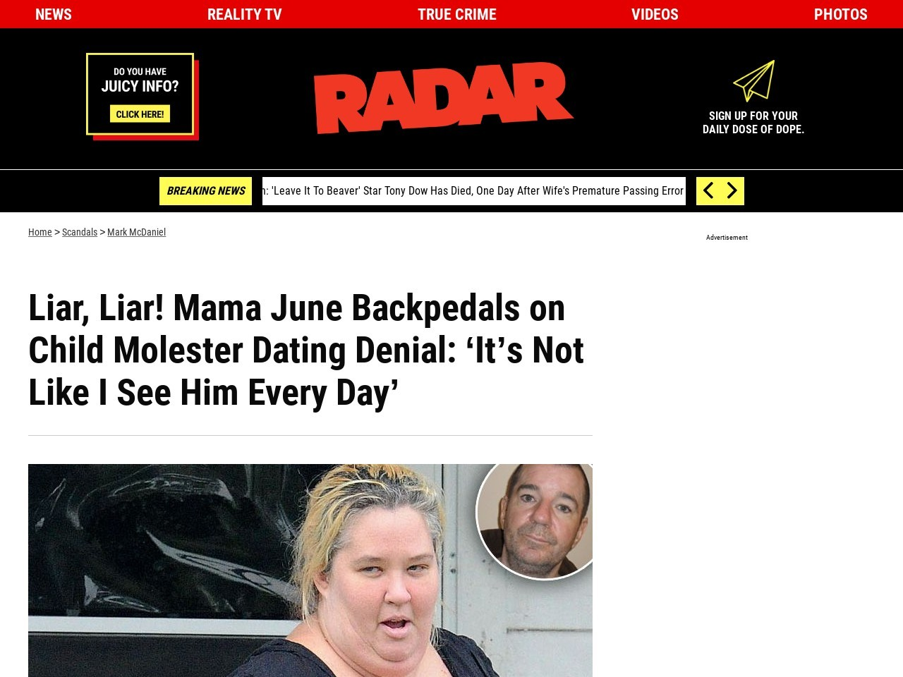 Radar Online   Disgraced Mama June Backpedals on Child …