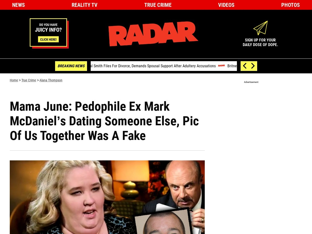 Radar Online   Mama June: Molester Ex Has 'Moved On,' Pic …