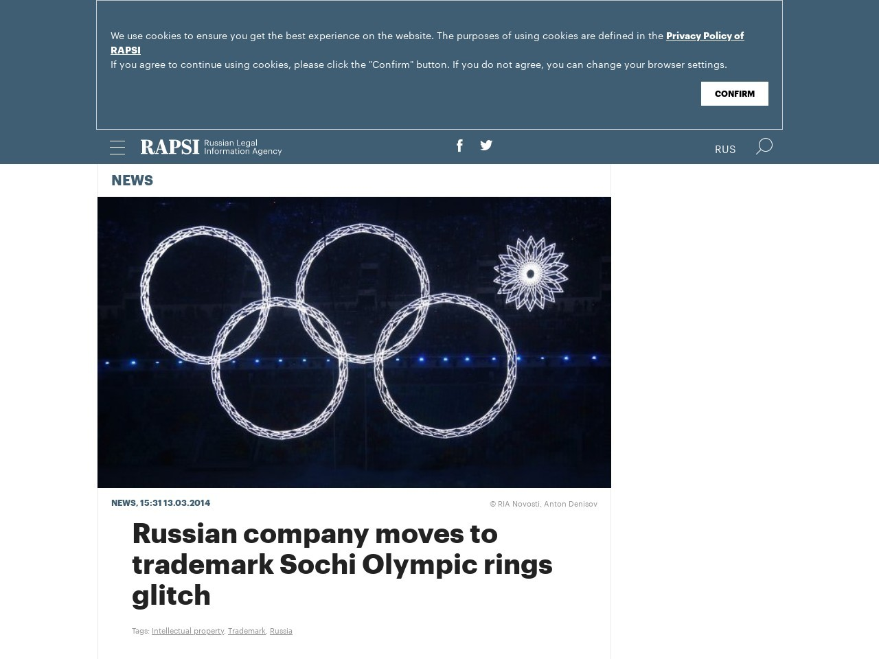 Russian company moves to trademark Sochi Olympic rings glitch