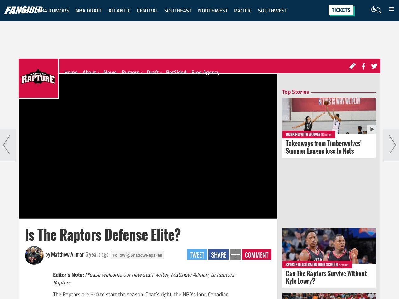 Is The Raptors Defense Elite? – Raptors Rapture
