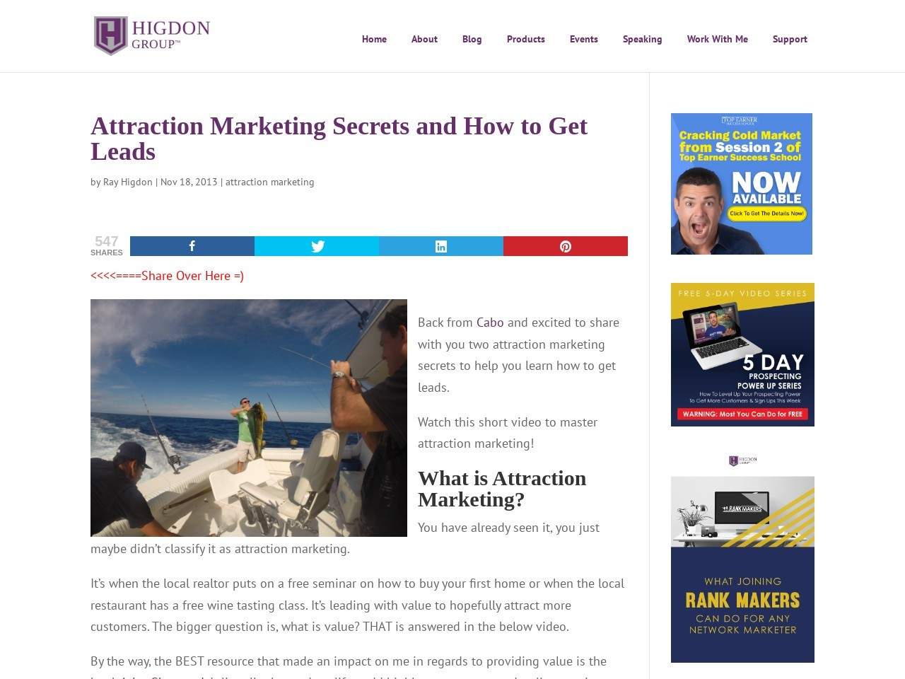 Attraction Marketing Secrets and How to Get Leads – Ray Higdon