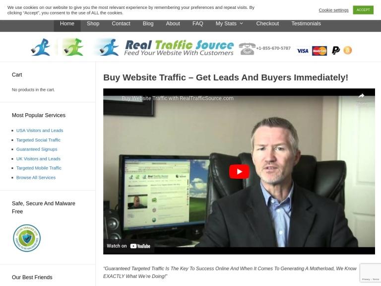 Real Traffic Source Coupons screenshot