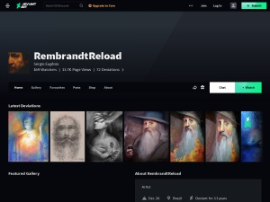 RembrandtReload (Sérgio Oliveira Eugênio) - DeviantArtのスクリーンショット
