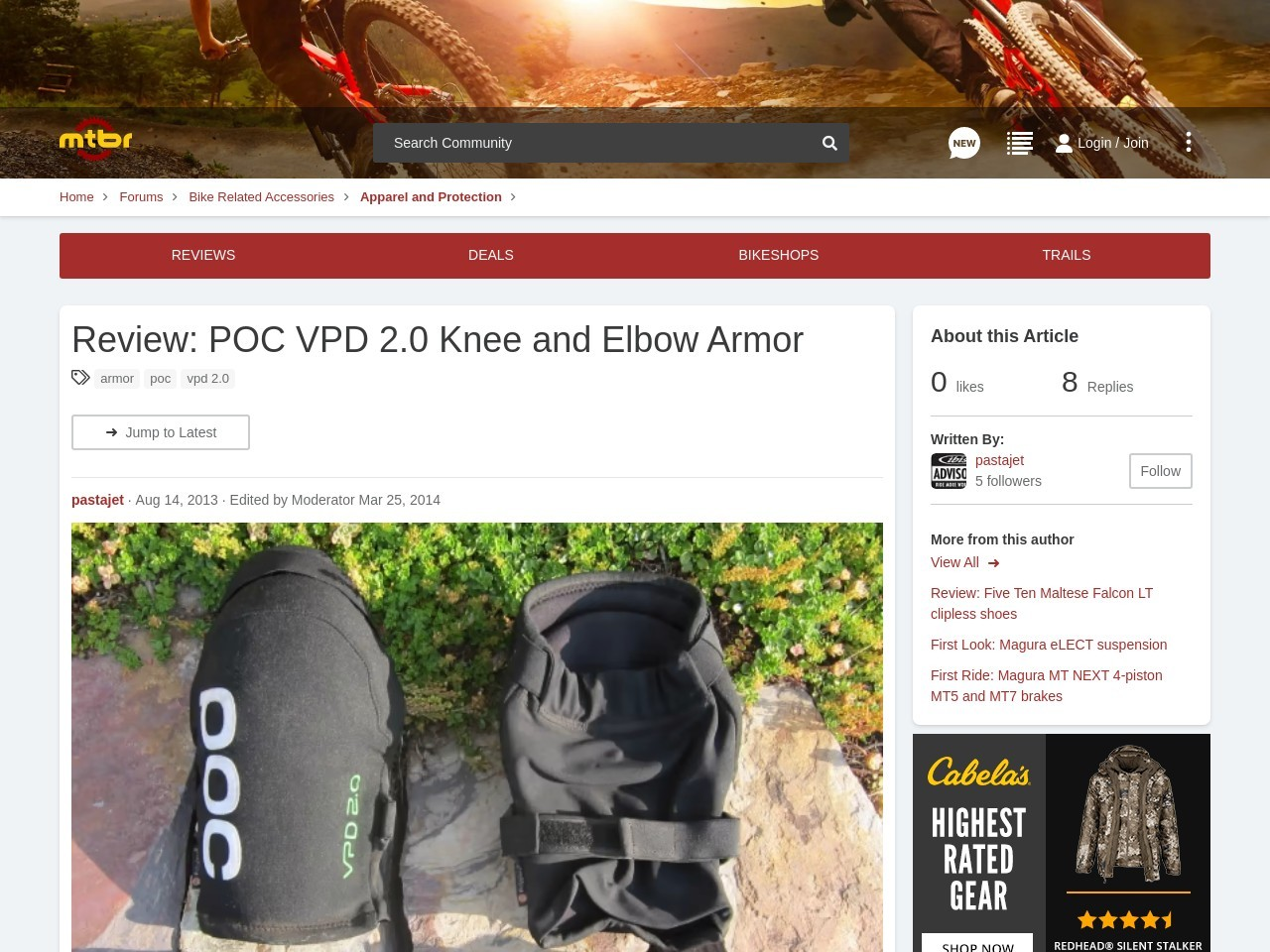 Review: POC VPD 2.0 Knee and Elbow Armor | Mountain Bike Review