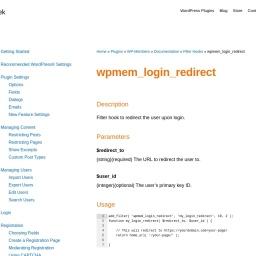 wpmem_login_redirect