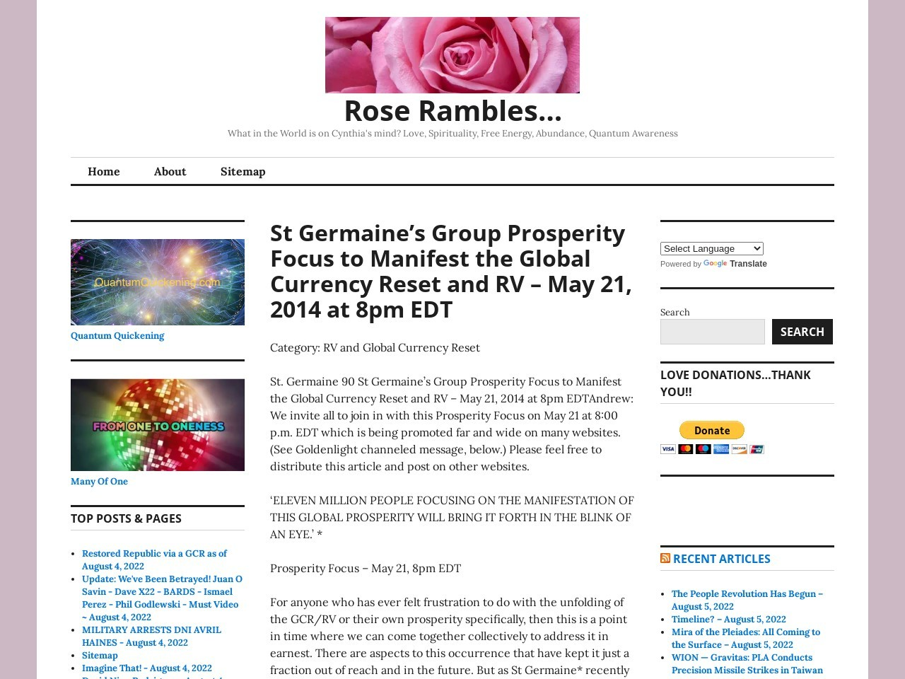 St Germaine's Group Prosperity Focus to Manifest the …