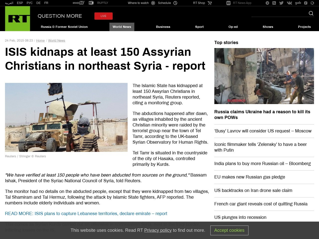 ISIS kidnaps at least 150 Assyrian Christians in northeast …