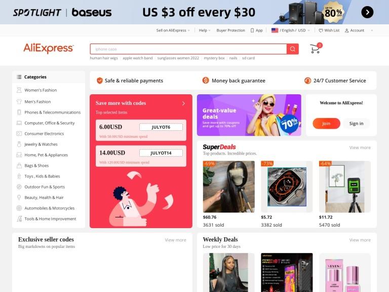 Aliexpress ES screenshot