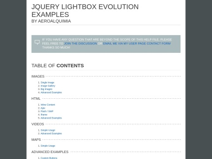 JQUERY LIGHTBOX EVOLUTION