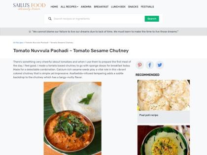 http://sailusfood.com/2009/10/31/tomato-nuvvula-pachadi-sesame-seeds-chutney